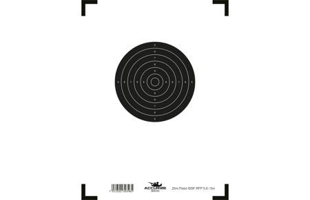 Wymienna tarcza - 25m pistolet ISSF RFP 5.6 / 5m